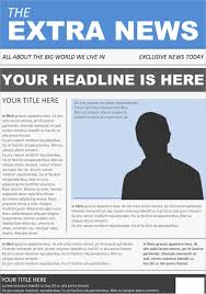 Microsoft Newspaper Template Free Front Page Newspaper Template Microsoft Word Magdalene