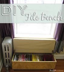 file cabinet bench. Modren Cabinet Diyfilebenchtitle On File Cabinet Bench
