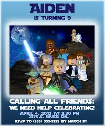 star wars birthday invite template free lego star wars party invites templates 4 birthday pinterest