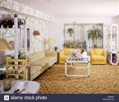 Sage Living Room 1970 1970s Living Room Sage Couch Yellow Chairs White Plastic