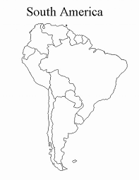 Black And White South America Map Fresh Blank Map South America Of