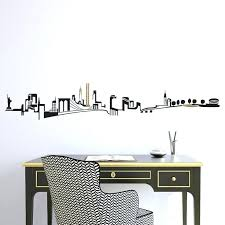 city wall decals skyline wall decal for room above crib city skyline wall decals best new