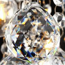 2018 50mm clear chandelier crystal faceted ball prism suncatcher feng shui crystal ball crystal pendants from o shine 6 86 dhgate com