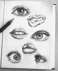 imagen de eyes drawing and lips