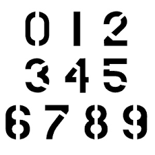 Number Stencil Font Ccn0074 Military Numbers Stencils Buy This Military Number Flickr