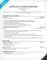 Musical Resume Template Beauteous Free Resume Templates For Musicians Musician Resume Template Commily