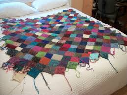 "quilted"" yarn blanket 