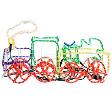 Christmas Outdoor Rope Light 3d Train Werchristmas 95 Cm Large 3d Train With Flashing Wheel And