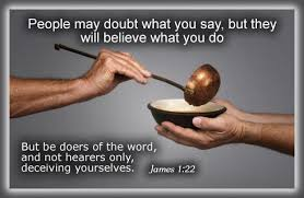 Image result for be doers of the word not hearers