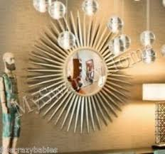 Small Picture Extra Large 42034 Silver Sunburst Starburst Wall Mirror XL