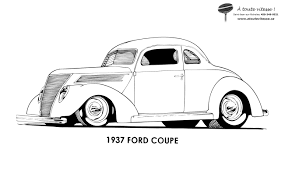 Coloriage Voiture Hot Rod