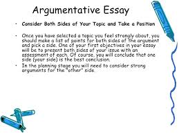 writing argumentative essays two sides types of papers argument argumentative