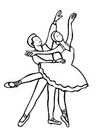 Kleurplaat Dansen 7607 Kleurplaten