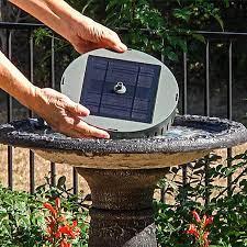 solar bird bath with fountain breck s