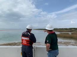 Marine Science Technician Coast Guard Responding To Hydraulic Oil Spill Near Corpus
