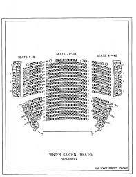 Winter Garden Theatre Seating Chart Seating Chart