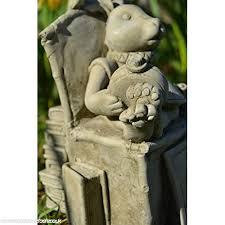 devonshire stone limited white rabbit alice in wonderland garden ornament b01irasywu