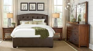 Awesome Urban Plains Brown 7 Pc King Upholstered Bedroom   King Bedroom Sets Dark  Wood