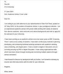 Interesting Sample Cover Letter For Academic Advisor    In Sample Cover  Letter For Cosmetologist with Sample
