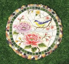 decorative garden stepping stones. Ceramics Mosaic Stepping Stone, Mexico Style Outdoor Decorative Paving Stone (BF01-P1004) Garden Stones