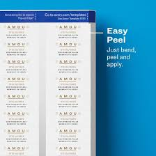 Avery Template 5195 Avery Easy Peel Mailing Address Labels Laser 2 3 X 1 3 4 White