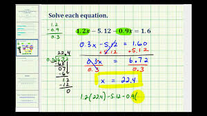 solving multiple step equations involving decimals