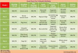 13 Month Old Baby Diet Chart Which Food Can Be Given For 8 Months Baby A Sample Food