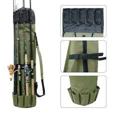 <b>Fishing Portable Multifunction</b> Nylon <b>Fishing</b> Rod Bag Case <b>Fishing</b> ...