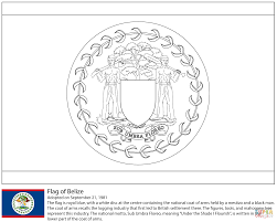 Small Picture Flag of Belize coloring page Free Printable Coloring Pages