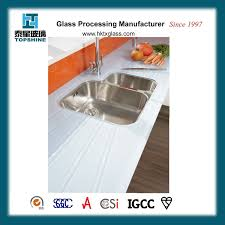 easy clean tempered glass worktop countertop for kitchen with bs6206 certificate