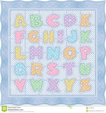 Alphabet Baby Quilt, Blue Pastel Stock Vector - Illustration of ... & Alphabet Baby Quilt, Blue Pastel Adamdwight.com