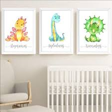 dinosaurs nursery wall art for baby