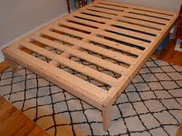 wood bed frame construction