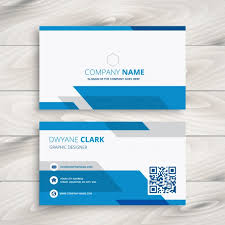Free Download Cards Blue And White Corporate Business Card Vector Free Download