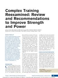 Nsca Program Design Pdf Pdf Complex Training Reexamined Review And Recommendations