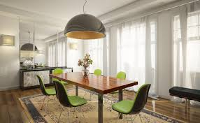 large dining room light. Large Half Globe Modern Dining Room Light Fixtures Over A Wooden Table Wih Green Chairs An Area Rug O