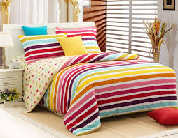 strip colorful comforter sets queen