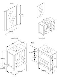Bathroom Vanities Dimensions