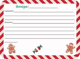 Recipe Cards Print Free Printable Christmas Recipe Card