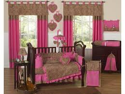 image of camo crib bedding sets pink and gold