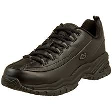 skechers non slip work shoes womens. skechers for work women\u0027s soft stride-softie lace-up,black,5 m non slip shoes womens