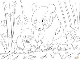 Cute Panda Family Coloring Page From