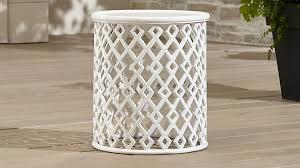 lattice diamond small side table
