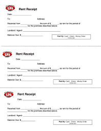 119 Printable Rent Receipt Template Forms Fillable Samples