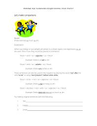 Worksheet Azar Basic English Grammar Chart 8 6 Answers Lets Make Comparisons