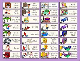 Download Chores Token Clipart Chore Chart Child Housekeeping