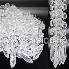 12 wedding acrylic garland strands diamond crystal bead chandelier hanging decor