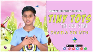 DAVID AND GOLIATH | Tiny Tots | The Bible Story | Augustine Mathew | 2020 -  YouTube