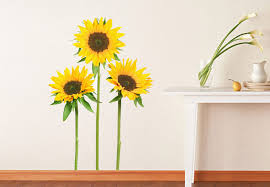 wall decals sunflowers wall decal beautiful fl home decor