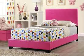Global Bedroom Furniture Furniture 8103 Full Pu Bed In Pink